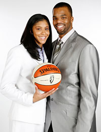 Shelden Williams and Candace Parker